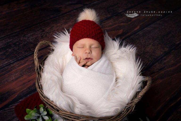 fotozaneta sesja noworodkowa Pomiechówek