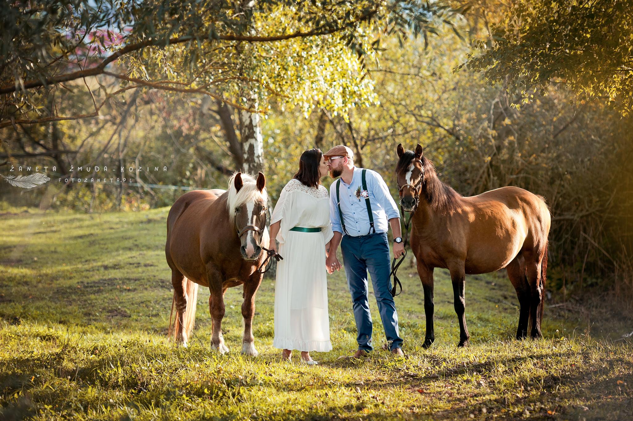 FotoZaneta fotografia slubna plener z końmi